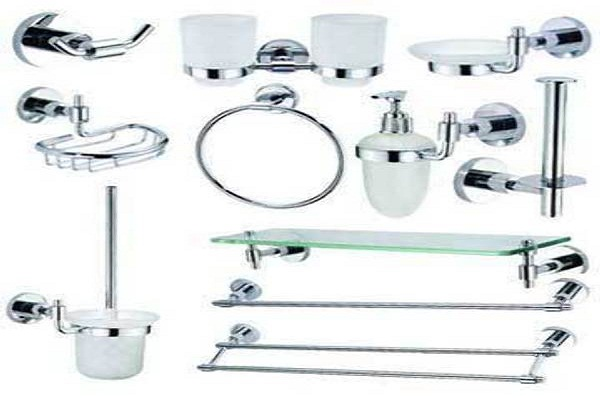 Bathroom Design Metallic Fittings
