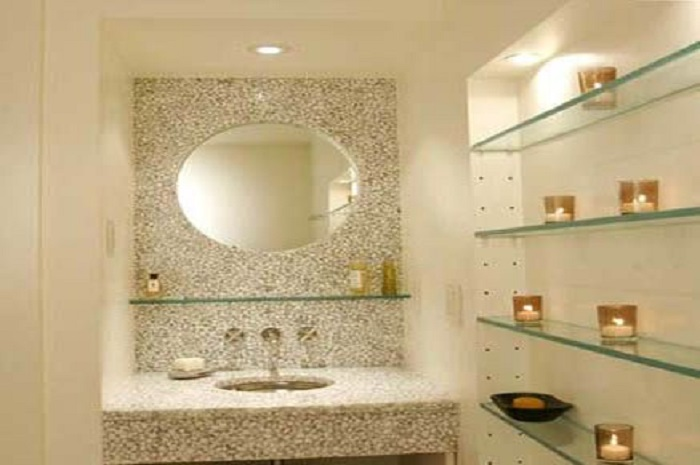 Glass Shelves For Bathroom Design